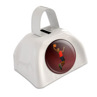 Basketball Player White Cowbell Cow Bell