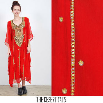 vintage 1990s dress vintage 90s red indian formal dress vintage boho bohemian indian gauze beaded dress vintage boho hippie festival dress