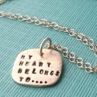 My heart belongs to  by chocolateandsteel on Etsy