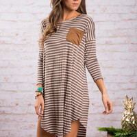Collecting My Thoughts Tunic, Mocha