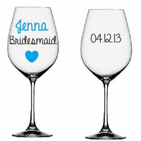 Wedding Party Wine Glasses