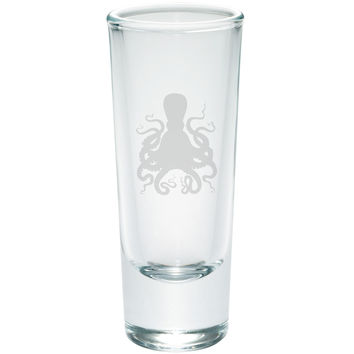 Octopus Etched Shot Glass Shooter