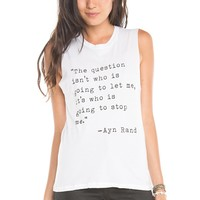 Brandy ♥ Melville |  Ayn Rand Tank - Graphics