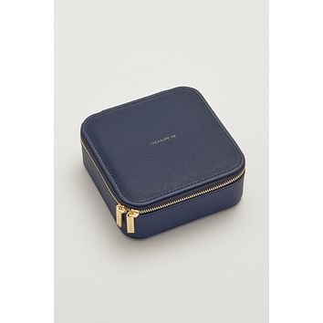 Square Jewelry Box - Treasure Me - Navy