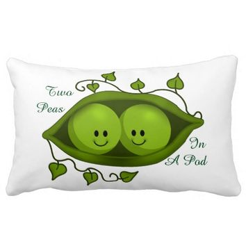 Cute Two Peas In A Pod Pillow