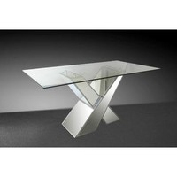 VIG Modrest Griffin Modern Mirrored Dining Table