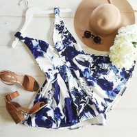 playful blue romper | Spoiled Rotton