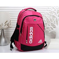 ADIDAS Tide brand men's and women's sports and leisure versatile light travel backpack rose red