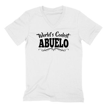 World's coolest abuelo Father's day birthday gift ideas for new grandpa proud grandfather gifts for him  V Neck T Shirt