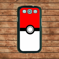 Samsung Galaxy S3 case- --Cute Pokemon Pokeball ,in plastic hard case,black or white or clear color