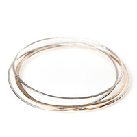 Nest Bracelet in Silver and Gold