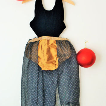 CELESTE Holiday Playsuit | Black Velvet and Gold Grecian Style Boho Toddler Gown/Jumper/Romper/Dress  w/ Beaded Waistband | Eco Friendly