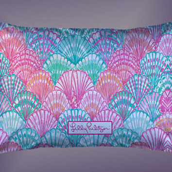 """Shell fish Ocean Lilly Pulitzer Logo Custom Pillow Case 16""""x24"""" Limited Edition"""