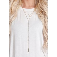 Hilary Drop Necklace (Gold)