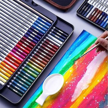 72 Colors Professional Watercolor Pencil Set Art Sketch Drawing Painting Pencils Gift Art School Stationary Supplies 05401