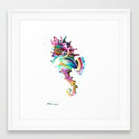 Baby Seahorse Framed Art Print by sureart