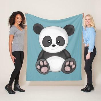 Cute Panda Fleece Blanket