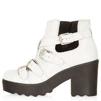 ARGO White Strap Boots - View All  - Shoes