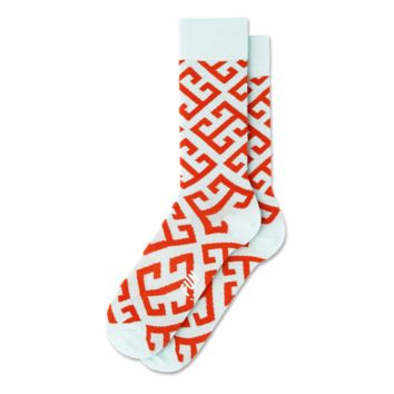 Fun Socks - Key Geo - Blue / Orange