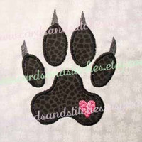 Cat Paw Print Applique - Machine Embroidery Design - INSTANT DOWNLOAD - 4x4 and 5x7 - (7 formats plus SVG included)