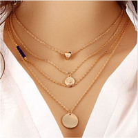 Charm Ladies Branch Leaf Bird Cross Infinity Wing Pendant Plated Chain Necklace