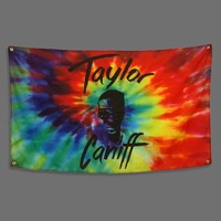 Taylor Face Tie Dye Flag : TCNF : Taylor Caniff
