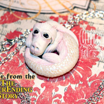 Never ending story inspired Falcor necklace