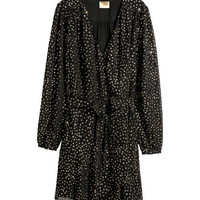 H&M Glittery Wrap Dress $79.99