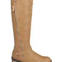 Hatcher Tall Riding Boots : Taupe