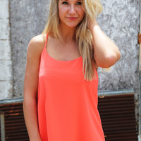 Summer Sunset Tank{Orange}