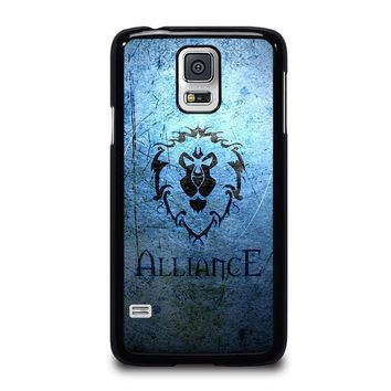 world of warcraft alliance wow samsung galaxy s5 case cover  number 1