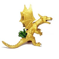 Up-cycled Large Gold Dragon Planter - With Succulent Plant
