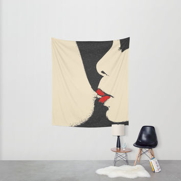 Girls love to play naughty - sexy conte Wall Tapestry by Peter Reiss