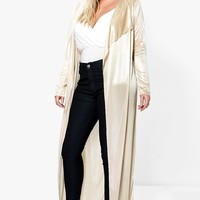 Plus Jen Satin Duster Jacket