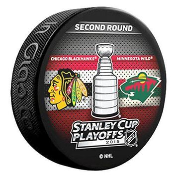 NHL 2015 Stanley Cup Playoffs 2nd Round Chicago Blackhawks VS Minnesota Wild Dueling Hockey Puck