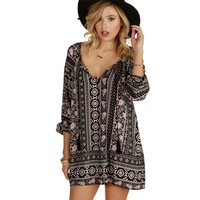 Black Paisley Flea Tunic