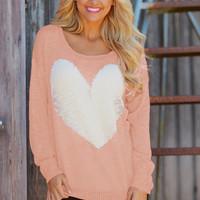 Young At Heart Sweater - Pink