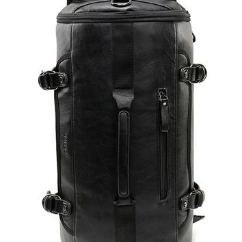 Physiological Curve Back Leather Travel Duffel Bag