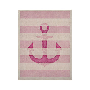 "Monika Strigel ""Stone Vintage Pink Anchor"" KESS Naturals Canvas (Frame not Included)"