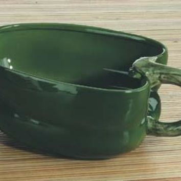 Green Bell Pepper Ceramic Soup Bowl 7.5L