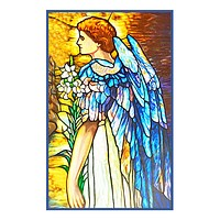 The Resurrection Angel inspired by Louis Comfort Tiffany  Counted Cross Stitch or Counted Needlepoint Pattern