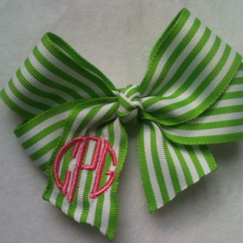 Monogram bow M2M shirt or dress add-on