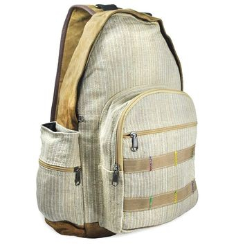 Mato Hemp Sling Bag Backpack One Shoulder Strap Suede Daypack Brown