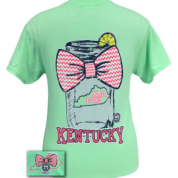 Girlie Girl Originals Kentucky Chevron Mason Jar Preppy State Bow Bright T Shirt