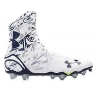 Under Armour White/Navy Highlight Cleats | Lacrosse Unlimited