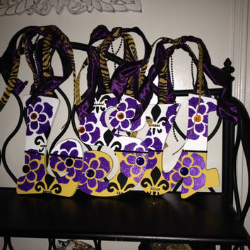 LSU Tigers hand-painted Print Decorative Wall Letters