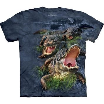 DCCKJY1 Alligators in Swampy Bog T-Shirt