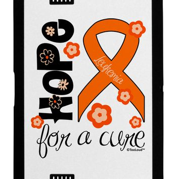 Hope for a Cure - Orange Ribbon Leukemia - Flowers Black Jazz Kindle Fire HD Cover by TooLoud