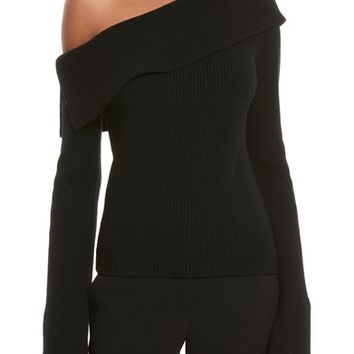 Theory One-Shoulder Foldover Sweater | Nordstrom