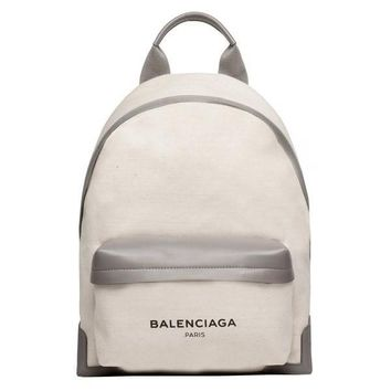 Canvas and Calfskin Backpack by Balenciaga